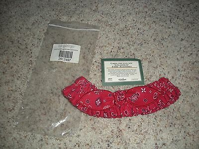 LONGABERGER Medium Garter with Bow ~ Backyard Bandanna ~ NEW