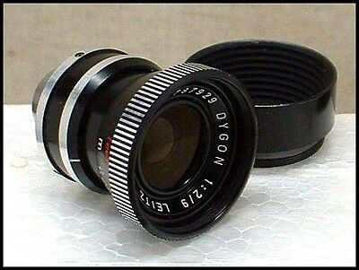 LEICA Leicina Dygon 9mm f/2 wide-angle movie camera lens!!