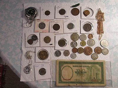 Mixed Lots Of Coins,+ Tokens+ + Us+/foreign  Lot! +More!!