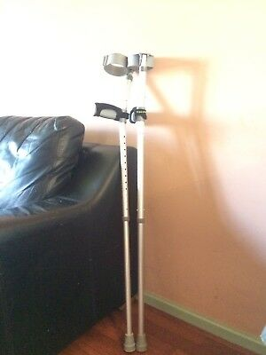 Crutches With Foam Grip