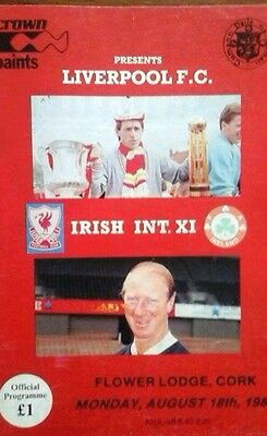 Irish Int X1 V Liverpool 18/8/1986 @ Cork