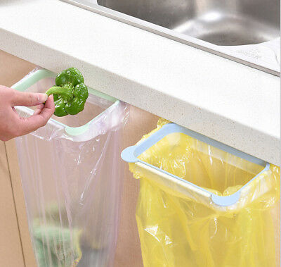 Hot Portable Door Garbage Trash Bag Box Can Rack Hanging Holder Kitchen Tool A+