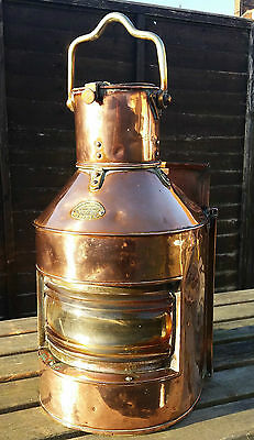 Rare Antique Copper & Brass Maritime World War 1 Ships Morse Code Lantern 1909