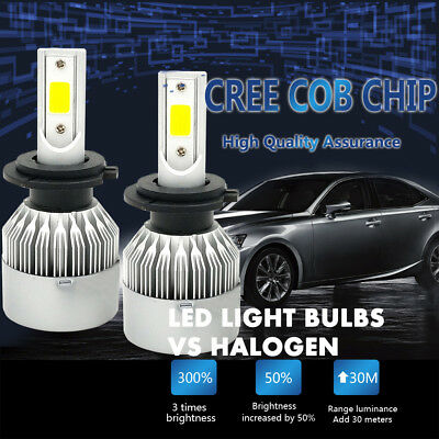 H7 980W 147000LM LED Headlight Conversion Kit Low Beam Bulbs 6000K High Power