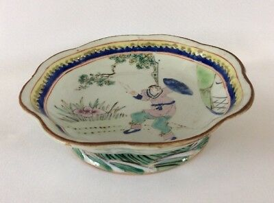Antique Large 19th Century Chinese Famille Rose High Foot Bowl c1862 Tongzhi