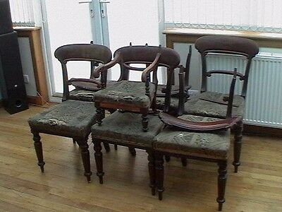 victorian dining chairs (damaged)