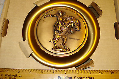 Frederic Remington~Bronco Buster~Limited Edition Wall Plague~1St Bronze