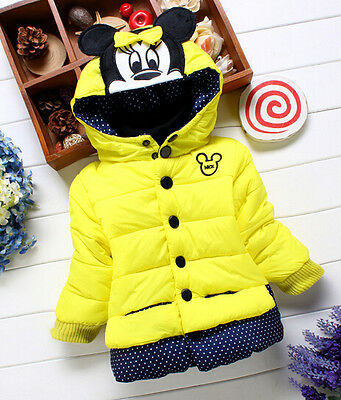 Children Outwear Coats Baby Kids Girls Winter Minnie Jackets Clothing C1Y12-18 M