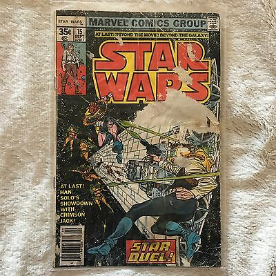 Star Wars #15 (Sep 1978, Marvel) COMIC BOOK - FREE BAG AND BOARD!