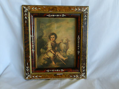 Antique Eastlake Spoon Carved Picture Frame