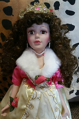 Collectible Stunning Princess Porcelain Doll In Heels