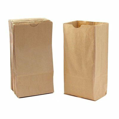 Hygloss Gusseted Flat Bottom Bags, 5 x 3 x 9 3/4-Inch, 100 Pack, Natural/Kraft