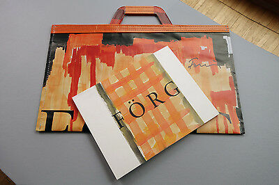 Günther Förg, Paper bag and Catalogue, Edition Deutsche Bank AG, SIGNED