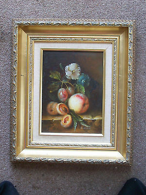 L. BAUER GERMAN SCHOOL MID 20th C OIL PAINTING ON PANEL DUTCH STYLE STILL LIFE