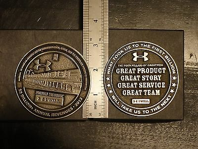 "Lot of 2 Rare Under Armour 3"" Coins only few made for executives - Collectible"