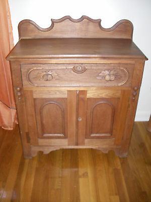 1930 French Walnut Cabinet-Professionally Stripped/refinished