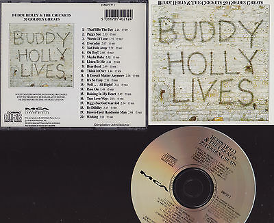 Buddy Holly & The Crickets : 20 Golden Greats : Mca Label Cd Album