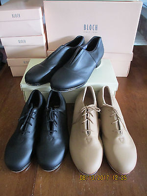 New Bloch S0388L, S0388M, & S0389L Tap Flex Shoes Black & Tan -Below Retail $
