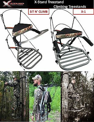 2018 NEW X-STAND TREESTAND CLIMBING TREE STANDS w/ FREE TMA FALL ARREST HARNESS