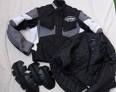 damen motorradjacke flm sports textiljacke polo gr 40 42. Black Bedroom Furniture Sets. Home Design Ideas