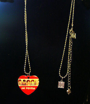 one direction Boy band heart shape pendant necklace
