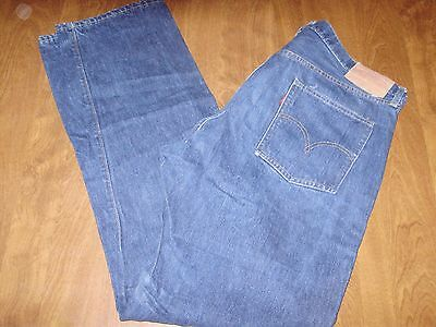 VINTAGE 1960's BIG E LEVIS 505 0217 SINGLE STITCH MADE IN USA NICE RICH BLUE