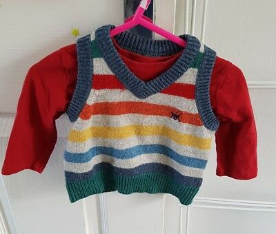 Monsoon knitted tank top set 3-6 months