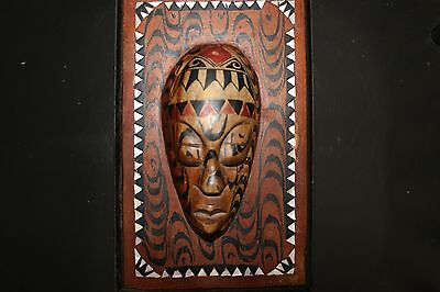 Carved Wooden Box With Face - Bali / Balinese