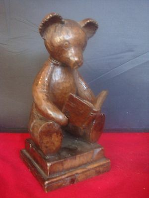 Antique / Vintage Handcrafted Sitting Teddy By Exclusive Makers  Hazelburyhouse