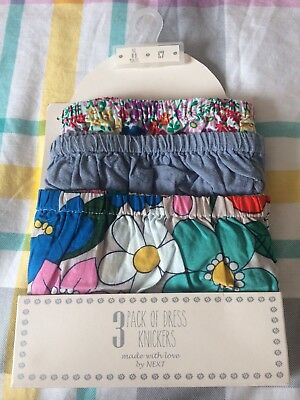 Beautiful NEXT girls 3 pack of dress knickers - 6-9 months