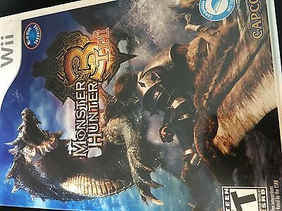 Monster Hunter Tri 3 (Nintendo Wii, 2010) Tested FAST SHIPPING
