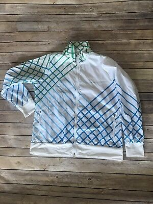 Nike Golf Full Zip Jacket  women's White Blue Green XL