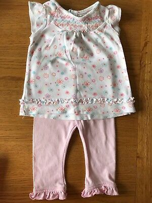 Baby Girl Top And Leggings Set 3-6 Months M&Co
