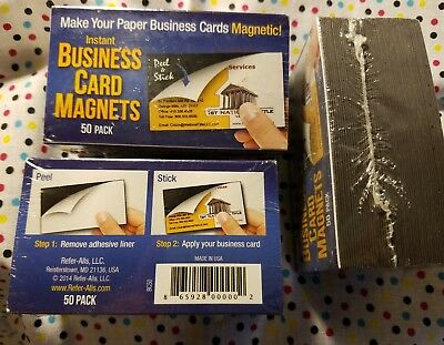 50 Instant Business Card Magnets