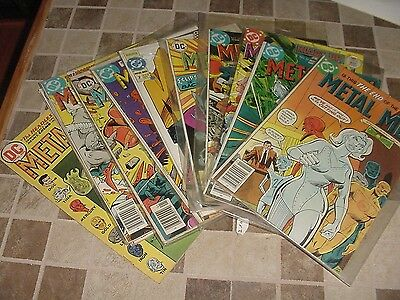 A Lot Of 12  Metal Men Comics! Classic Super Heros!!