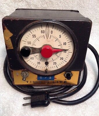 Vintage TIME-O-LITE P-59 Dark Room Timer FREE SHIPPING