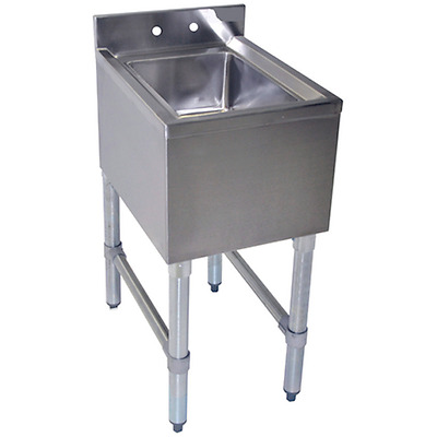"""New Stainless Steel 1 Compartment Underbar Hand Sink 12"""" x 18"""""""