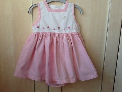 Marks & Spencer Baby Girls 12-18 Months Pink Dress with pants set