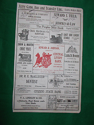 c 1909 Large Hotel Registry Desk Blotter with Lots of Advertising Pictures