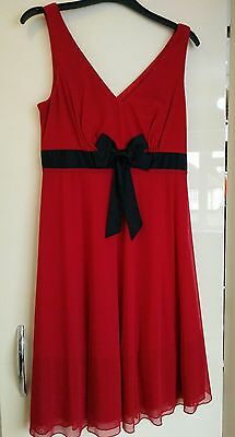 Woman's red Next evening / cocktail dress size 10