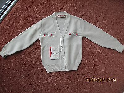 Vintage baby clothes Boys UNUSED cardigan Roxburgh of Scotland 1960s
