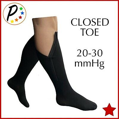 ff1bab5bb89ff2 Presadee Original Closed Toe 20-30 mmHg Zipper Compression Socks Leg  Circulation