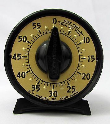 Vintage Mark Time M H Rhodes 60 Minute Bell Darkroom Timer - Works Perfectly