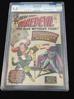 Daredevil #6 1965 Stan Lee Story Cgc 4.5 Mister Fear 1St App Yellow Costume