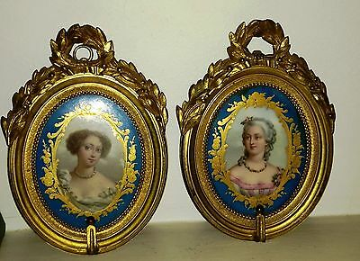 Paire de Sevres Plaques en porcelaine,18siecle.Perfect Items for the Collectors!