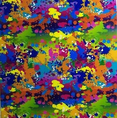 Hydrographic Film Water Transfer Hydrodipping Hydro Dip Paint Splatter 2 1M