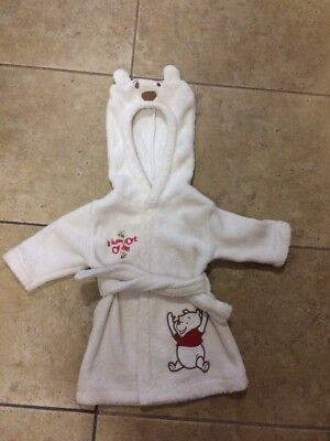 Baby First Dressing Gown Winni The Pooh  Disney 0-3 Months Boys Or Girls