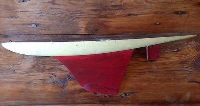 Antique Sail Boat Hull Keel Paint Decorated Wood Toy Ship Possible Tex Foster