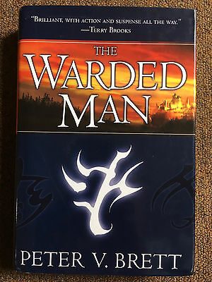SIGNED & DATED Warded Man by Peter V. Brett (1st 1st Hardcover)
