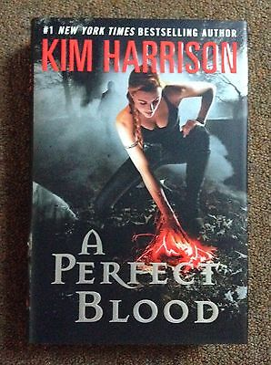 SIGNED A Perfect Blood by Kim Harrison 1st Edition 1st Printing Hardcover